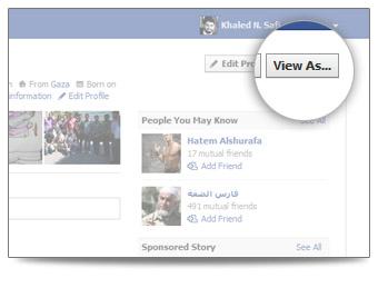 View profile As..