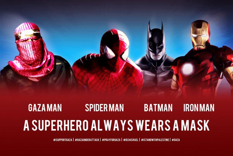 Photo of A Superhero always wears a mask