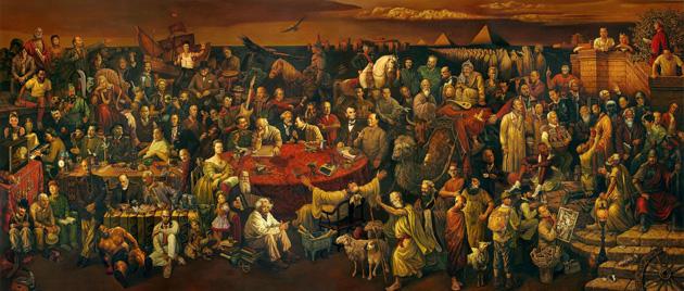 Photo of لوحة أهم مشاهير العالم عبر التاريخ