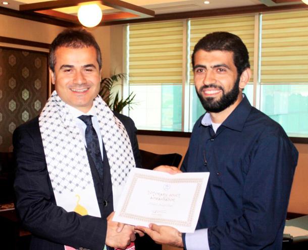 تكريم وزارة الشباب والرياضة التركية والحصول على لقب: سفير الشباب الفخري من وزير الشباب والرياضة سعاد كليتش