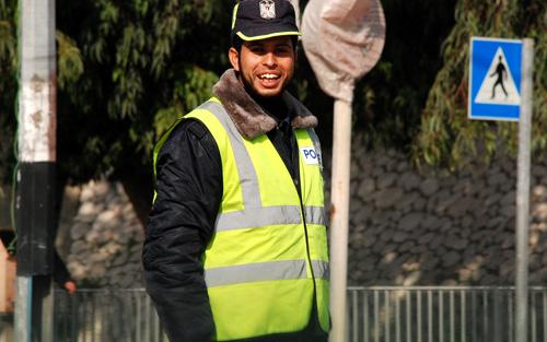 شرطي المرور الأنشط في قطاع غزة