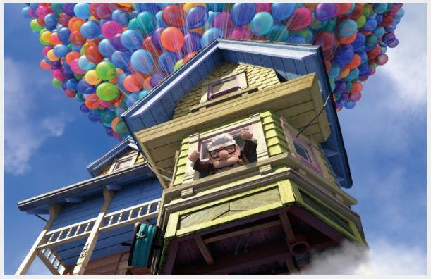 Carl Fredricksen house with millions of ballons